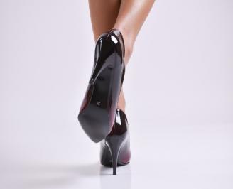 Дамски елегантни обувки еко кожа/лак червени 3