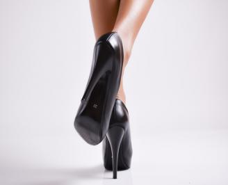 Дамски елегантни обувки еко кожа черни 3