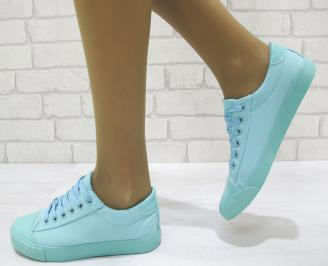Дамски спортни обувки текстил тюркоаз