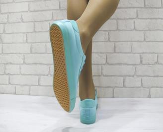 Дамски спортни обувки текстил тюркоаз 3