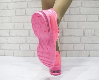Дамски спортни обувки текстил розови 3