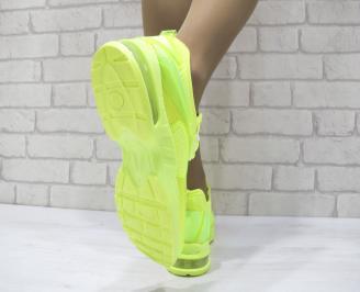 Дамски спортни обувки текстил зелени 3