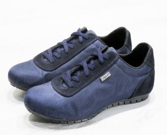 Мъжки  обувки спортни текстил сини