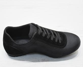 Мъжки спортни  обувки текстил черни 3