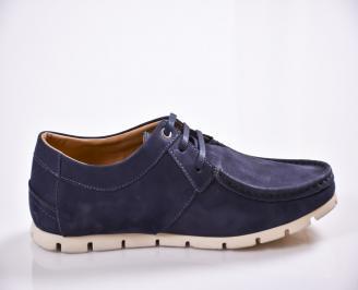 Мъжки обувки тъмно сини  велур 3