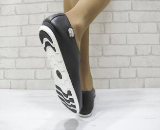 Дамски обувки от естествена кожа Гигант черни 3