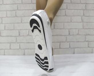 Дамски обувки от естествена кожа Гигант тъмно сребристи 3
