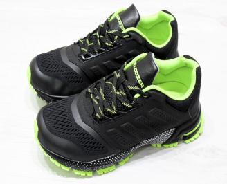 Юношески  маратонки BULLDOZER еко кожа/текстил черни
