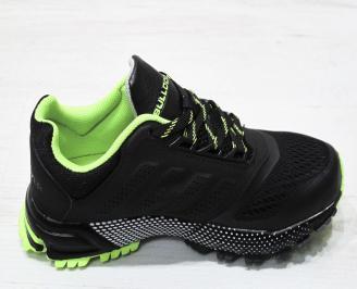 Юношески  маратонки BULLDOZER еко кожа/текстил черни 3