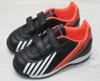 Детски футболни обувки Bulldozer  еко кожа черни