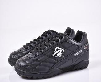 Юношески футболни  обувки Bulldozer еко кожа черни