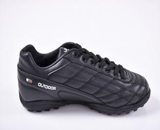 Юношески футболни  обувки Bulldozer еко кожа черни 3