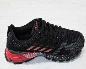 Юношески  маратонки BULLDOZER текстил черни 3