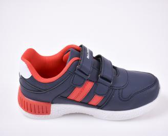 Детски обувки Bulldozer сини еко кожа