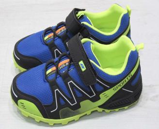 Детски обувки Bulldozer  еко кожа /текстил синьо/черно