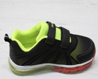 Детски обувки Bulldozer черни еко кожа/текстил