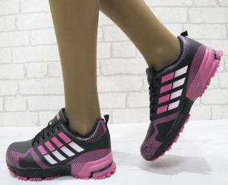 Дамски маратонки  Bulldozer еко кожа черни