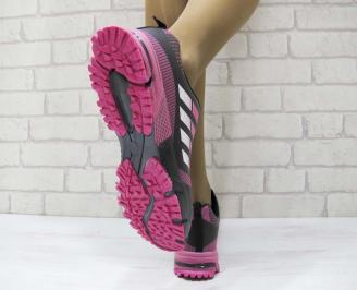 Дамски маратонки  Bulldozer еко кожа черни 3