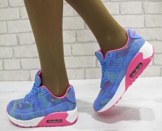 Дамски маратонки  Bulldozer текстил сини