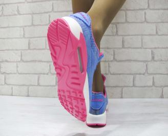 Дамски маратонки  Bulldozer текстил сини 3