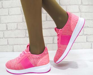Дамски маратонки  Bulldozer текстил розови