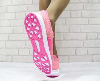 Дамски маратонки  Bulldozer текстил розови 3