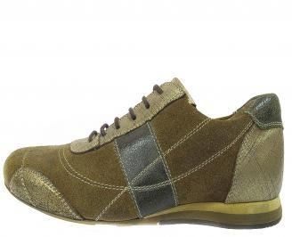 Мъжки обувки спортни естествена кожа кафяви