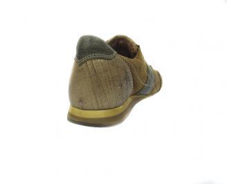 Мъжки обувки спортни естествена кожа кафяви 3