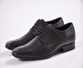 Мъжки обувки от естествена кожа официални черни
