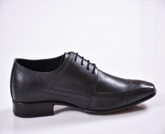 Мъжки обувки от естествена кожа официални черни 3