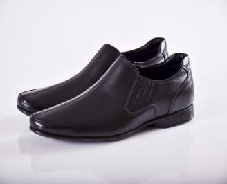 Мъжки официални мъжки обувки от естествена кожа черни