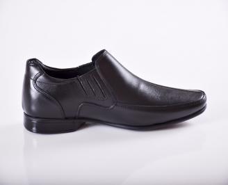 Мъжки официални мъжки обувки от естествена кожа черни 3