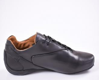 Спортни  обувки от естесвена кожа черни 3