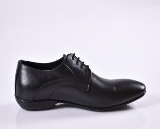Мъжки официални обувки естествена кожа черни 3
