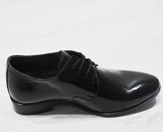 Мъжки обувки естествена кожа с лаково покритие 3