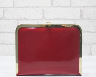 Абитуриентска чанта еко кожа/лак червена