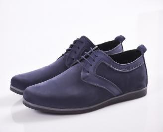Мъжки обувки естествен набук тъмно сини