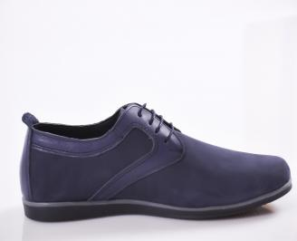 Мъжки обувки естествен набук тъмно сини 3