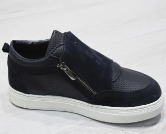 Мъжки спортни обувки еко кожа тъмно сини 3