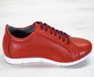 Мъжки обувки естествена кожа червени