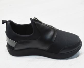 Мъжки спортни обувки еко кожа черни 3