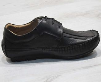 Ежедневни мъжки обувки естествена кожа черни