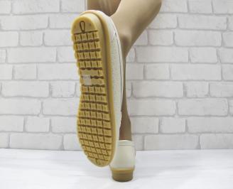 Дамски ежедневни обувки  бежови естествена кожа 3