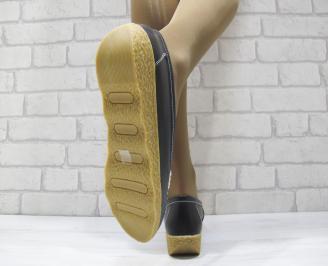 Дамски ежедневни обувки  черни естествена кожа 3