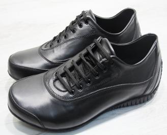 Mъжки спортни обувки естествена кожа черни