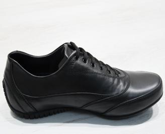Mъжки спортни обувки естествена кожа черни 3