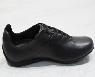 Мъжки спортни обувки естествена кожа черни 3