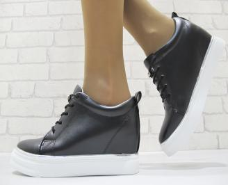 амски обувки на платформа еко кожа черни