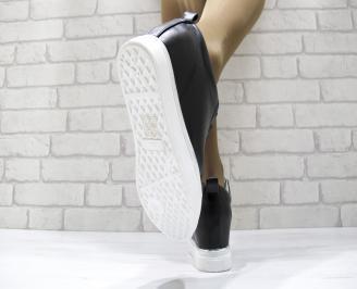 амски обувки на платформа еко кожа черни 3