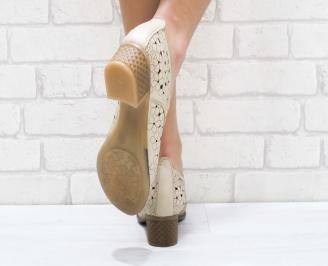 Дамски ежедневни обувки естествена кожа бежови 3